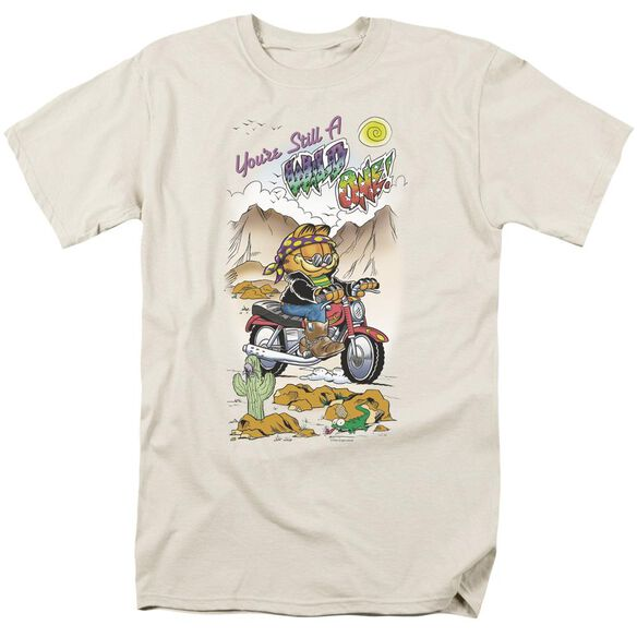 Garfield Wild One Short Sleeve Adult Cream T-Shirt