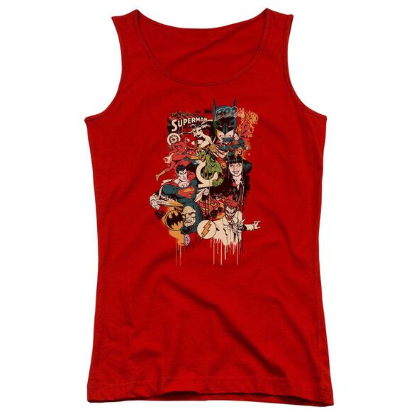 Dc Dripping Characters Juniors Tank Top