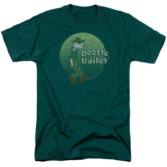 Beetle Bailey Green Beetle Short Sleeve Adult Hunter Green T-Shirt