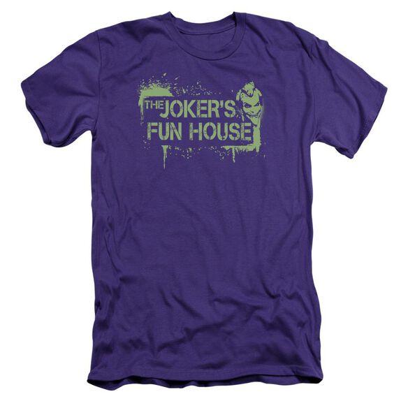 Arkham City Joker's Fun House Short Sleeve Adult T-Shirt