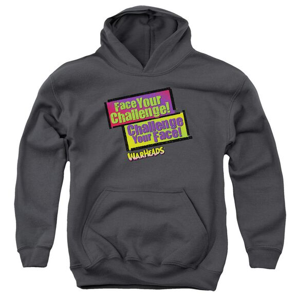 Warheads Face Your Challenge Youth Pull Over Hoodie