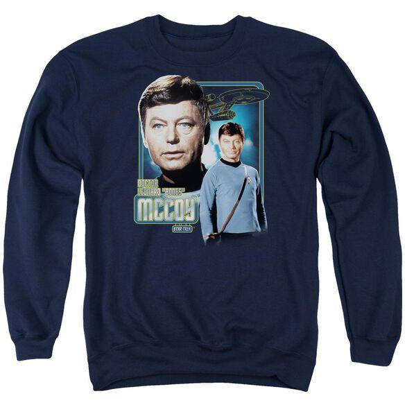 Star Trek Doctor Mccoy Adult Crewneck Sweatshirt