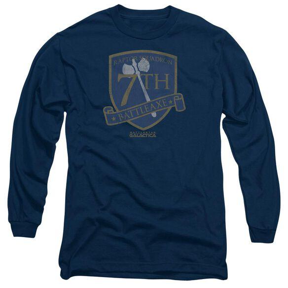 Bsg Battleaxe Badge Long Sleeve Adult T-Shirt