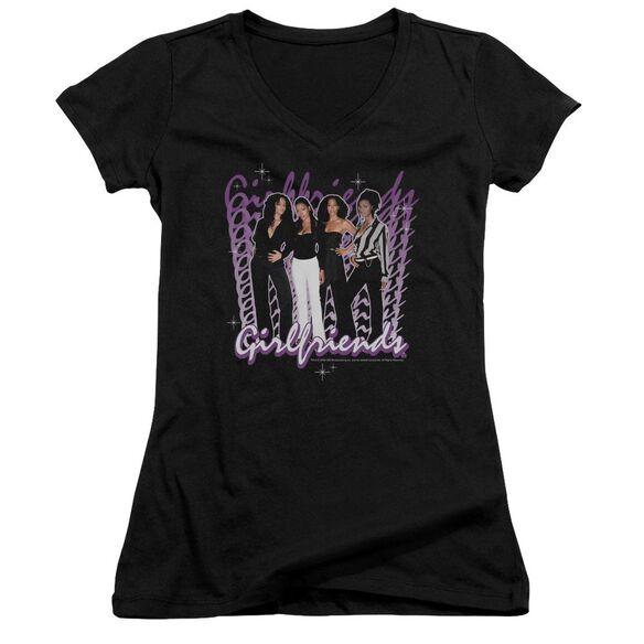 Girlfriends Girlfriends Junior V Neck T-Shirt