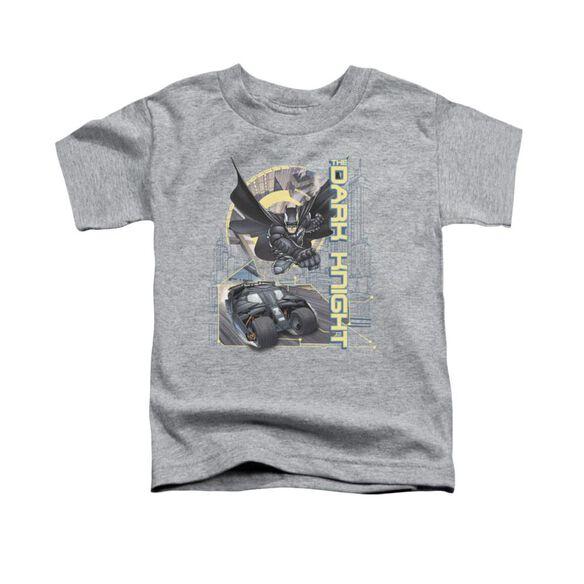 Dark Knight City Is Safe Tonight Short Sleeve Toddler Tee Athletic Heather T-Shirt