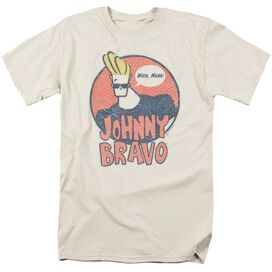 Johnny Bravo Wants Me Short Sleeve Adult Cream T-Shirt