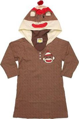 Sock Monkey Hooded Junior NighT-Shirt