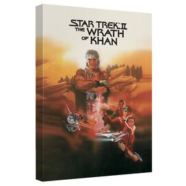 Star Trek Wrath Of Khan Canvas Wall Art With Back Board