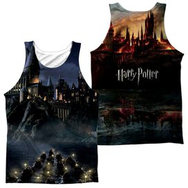 Harry Potter Hogwarts (Front Back Print) Adult Poly Tank Top