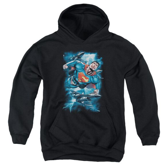 Superman Stormy Flight Youth Pull Over Hoodie