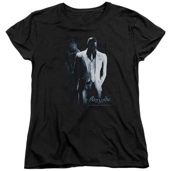 Batman Arkham Origins Mask Short Sleeve Womens Tee T-Shirt