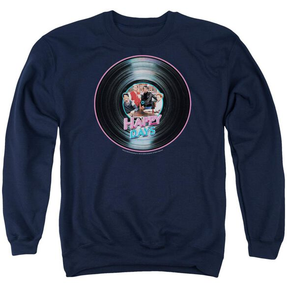 Happy Days On The Record Adult Crewneck Sweatshirt
