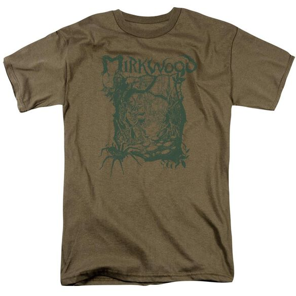 Hobbit Mirkwood Line Short Sleeve Adult Safari Green T-Shirt