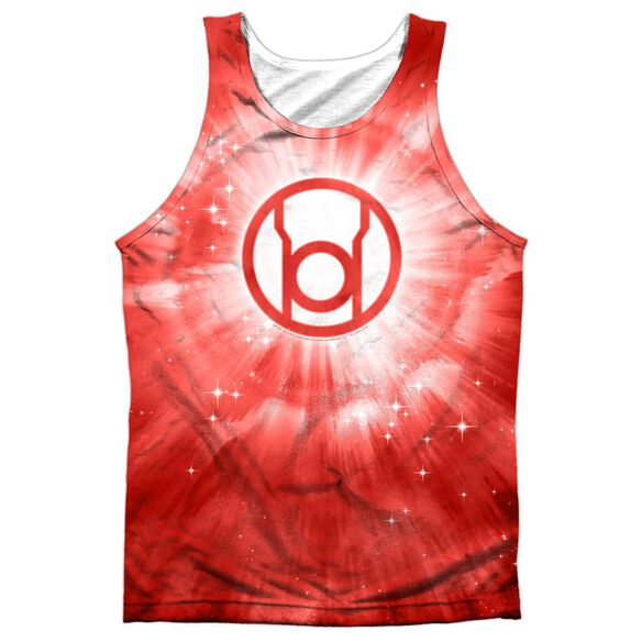 Green Lantern Red Energy Adult 100% Poly Tank Top