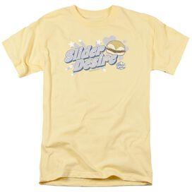White Castle Slider Desire Short Sleeve Adult Banana T-Shirt