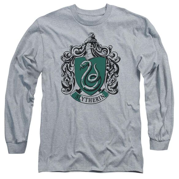 Harry Potter Slytherin Crest Long Sleeve Adult Athletic T-Shirt