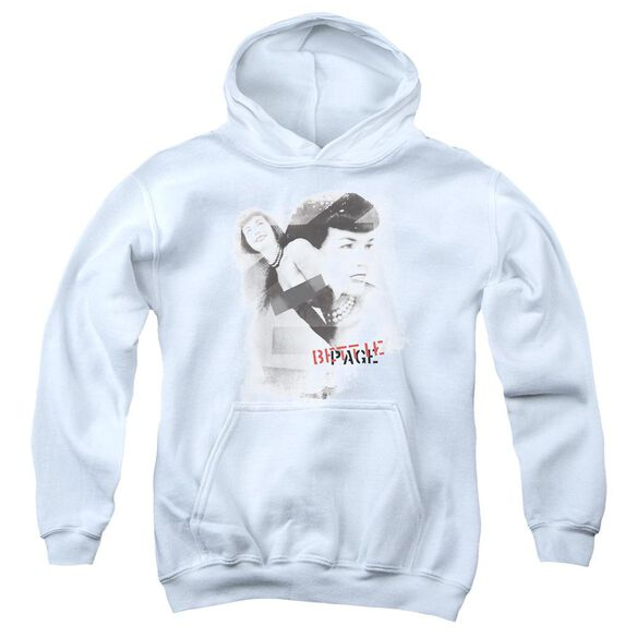 Bettie Page Transparent Bands Youth Pull Over Hoodie