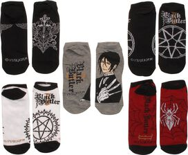 Black Butler Symbols 5 Pair Low Cut Socks Set