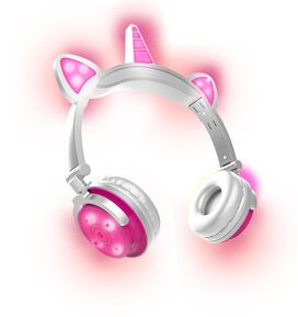 Unicorn LED Bluetooth Headphones [Pink]