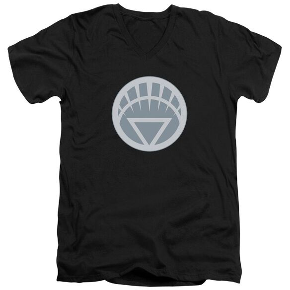 Green Lantern White Symbol Short Sleeve Adult V Neck T-Shirt