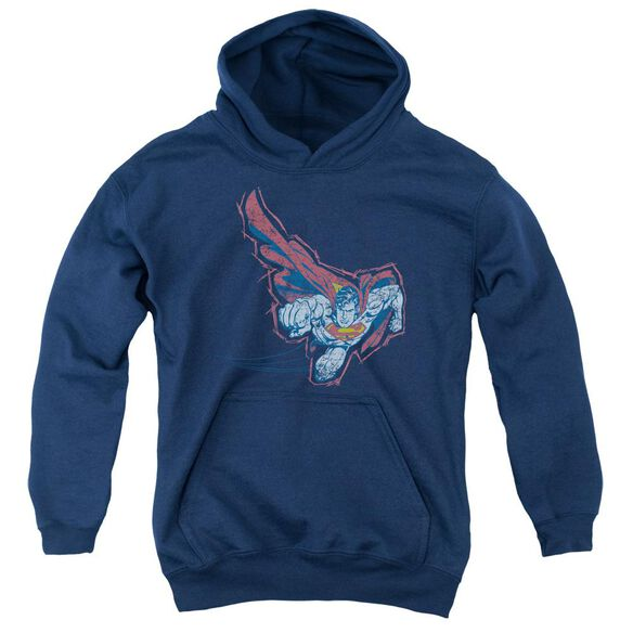 Superman Scribble & Soar Youth Pull Over Hoodie