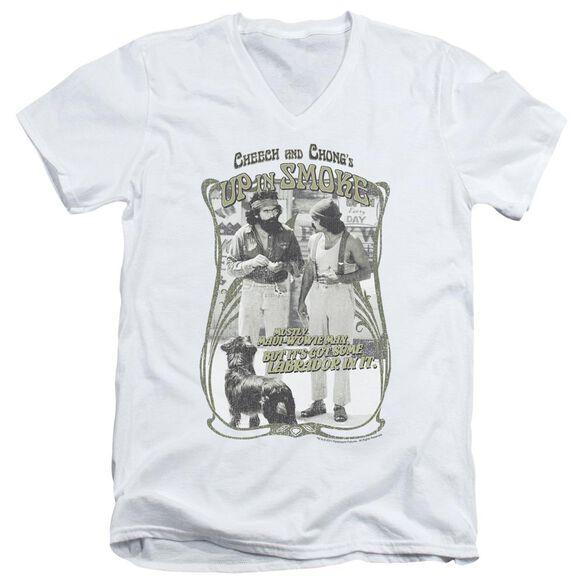 Up In Smoke Labrador Short Sleeve Adult V Neck T-Shirt