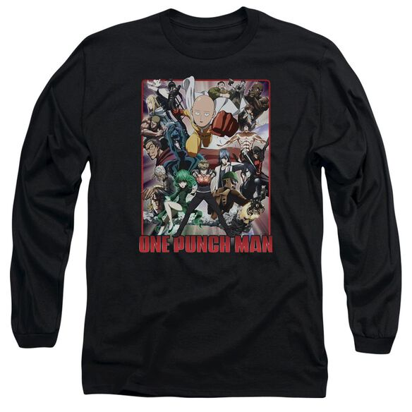 One Punch Man Cast Of Characters Long Sleeve Adult T-Shirt