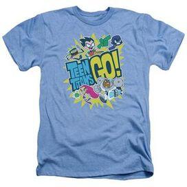 Teen Titans Go Group Logo Heather T-Shirt