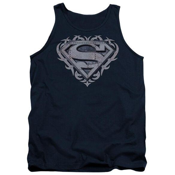 Superman Tribal Steel Shield Adult Tank