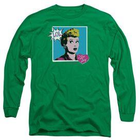 I LOVE LUCY I LOVE WORHOL LOL - L/S ADULT 18/1 - KELLY GREEN T-Shirt