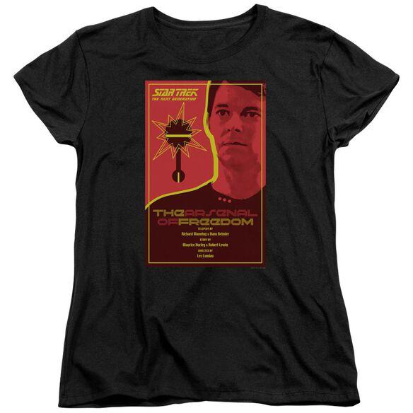 Star Trek Tng Season 1 Episode 21 Short Sleeve Womens Tee T-Shirt