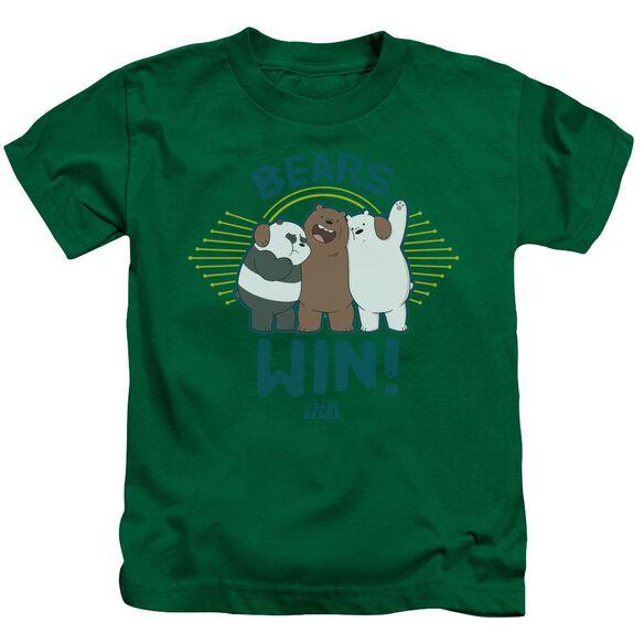We Bare Bears Bears Win Short Sleeve Juvenile Kelly T-Shirt