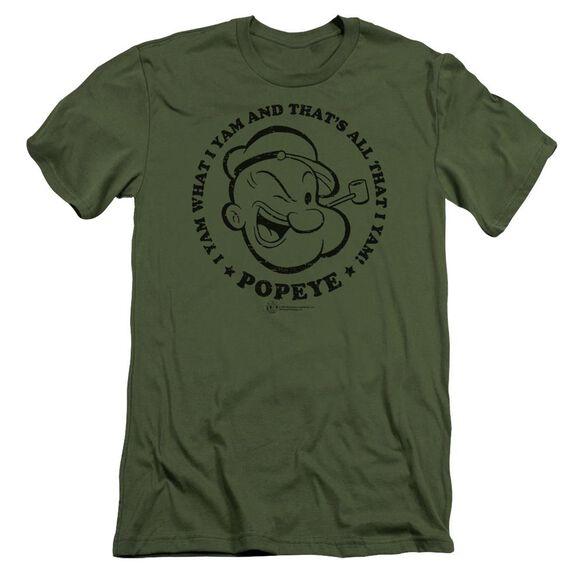 Popeye I Yam Short Sleeve Adult Military T-Shirt