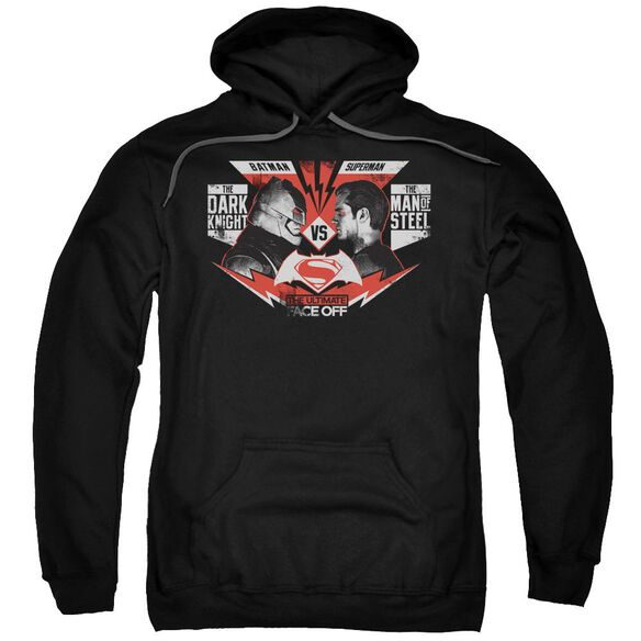 Batman V Superman Ultimate Face Off Adult Pull Over Hoodie