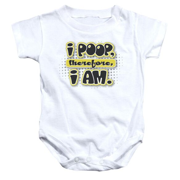 I Am Poopy Infant Snapsuit White Lg