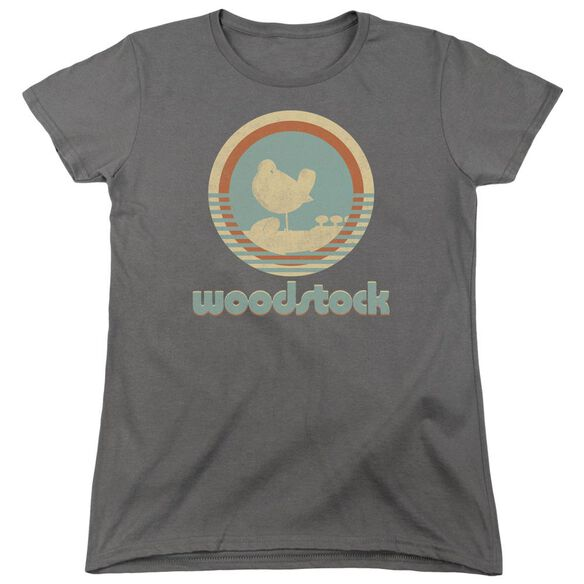 Woodstock Bird Circle Short Sleeve Womens Tee T-Shirt