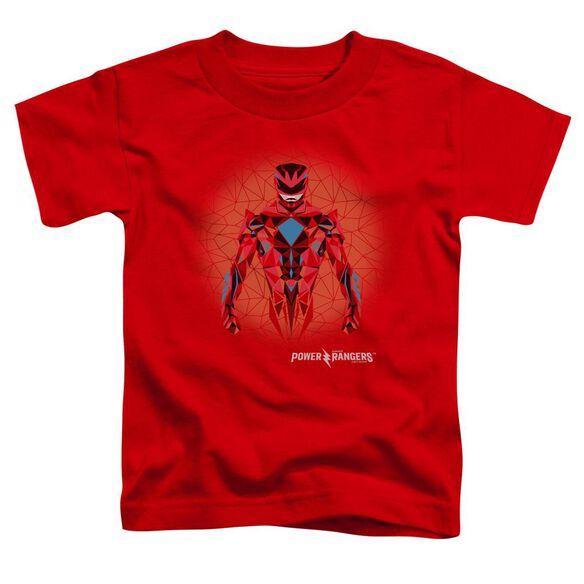Power Rangers Red Power Ranger Graphic Short Sleeve Toddler Tee Red T-Shirt