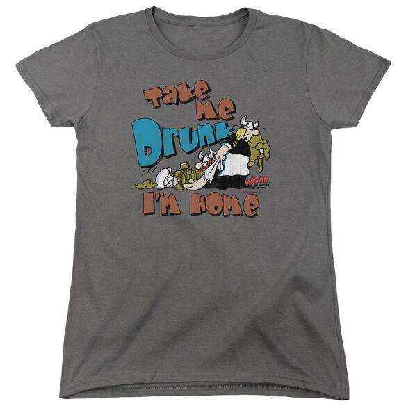 Hagar The Horrible Take Me Home Short Sleeve Womens Tee T-Shirt