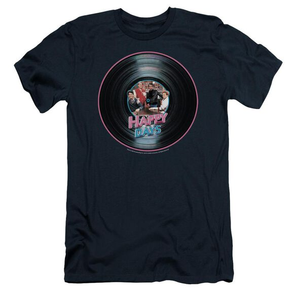 Happy Days On The Record Short Sleeve Adult T-Shirt