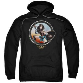 Wonder Woman Movie Battle Pose Adult Pull Over Hoodie
