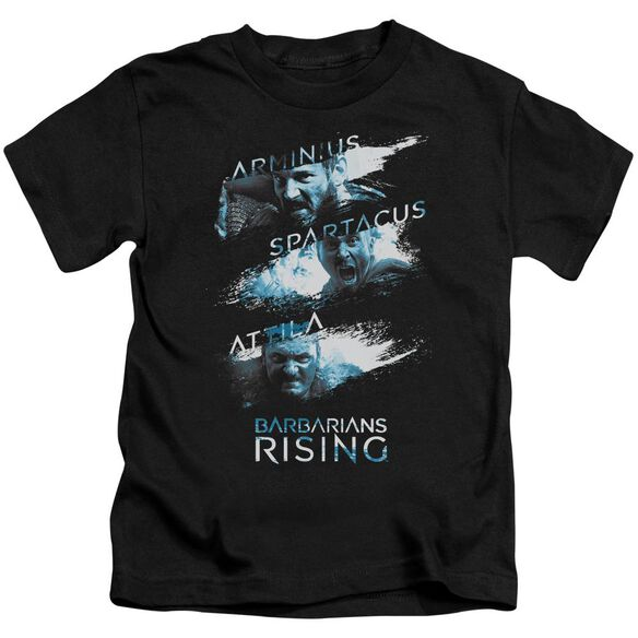 Barbarians Rising Barbarian Splash Short Sleeve Juvenile Black T-Shirt