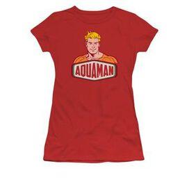 Aquaman Sign Logo Juniors T-Shirt