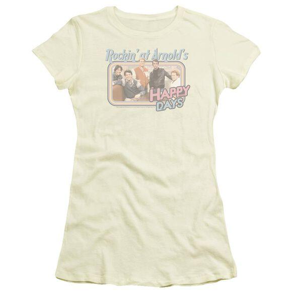 Happy Days Rockin' At Arnold's Short Sleeve Junior Sheer T-Shirt