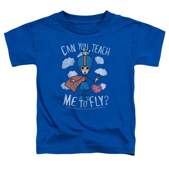 I Love Lucy Fly Short Sleeve Toddler Tee Royal Blue T-Shirt