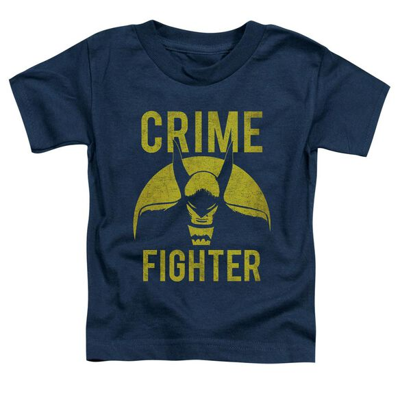 Dc Fight Crime Short Sleeve Toddler Tee Navy T-Shirt