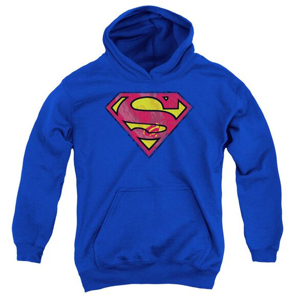 Superman Action Shield Youth Pull Over Hoodie