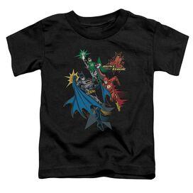 Jla Action Stars Short Sleeve Toddler Tee Black Lg T-Shirt