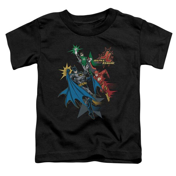 Jla Action Stars Short Sleeve Toddler Tee Black Lg T-Shirt
