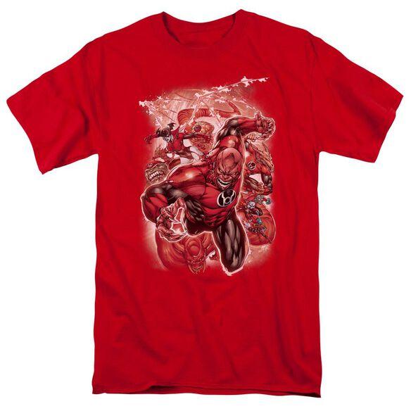Green Lantern Red Lanterns #1 Short Sleeve Adult Red T-Shirt