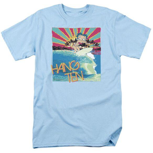 Betty Boop Hang Ten Short Sleeve Adult Light T-Shirt